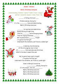 50 free esl christmas song worksheets