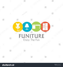 Home Decor Design Templates Business Sign Vector Template Furniture Store Stock Vector
