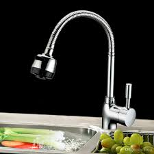 2017 popular new bendable rotate 360 degrees kitchen tap single