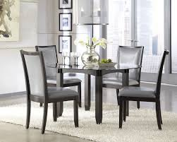 Modern Leather Dining Chairs Home Design Modern Quilted Leather Dining Chair Tapered Chrome