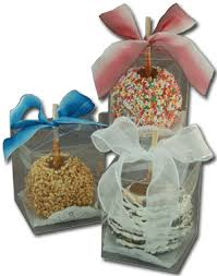 candy apples boxes edible candy apples packages in a clear box with ribbon easy to