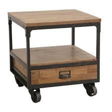 table bout de canap bout de canapé table de chevet à roulettes 1 tiroir