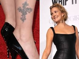 drew barrymore legs drew barrymore ankle tattoo jpg drew