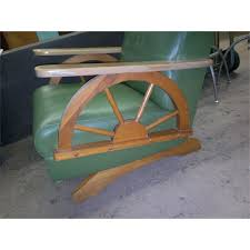 Wagon Wheel Rocking Chair Rocking Chair Green With Pine Wagon Wheel Style Sides