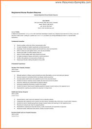 Resume Sle For A Nursing Student Registered Student Resume Exle Student Resume Free