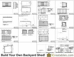 10x20 lean to shed plans icreatables com