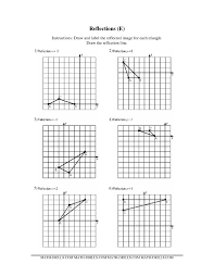 Coordinate Geometry Worksheets Worksheet Reflection Worksheet Laurelmacy Worksheets For