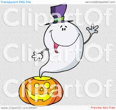 halloween clip art transparent background royalty free rf clipart illustration of a ghost waving and