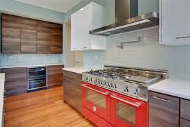Kitchen Designers Seattle Seattle This Kitchen Was Designed Around The Rich Red Bertazzoni