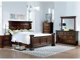 standard furniture charleston traditional queen panel bed with