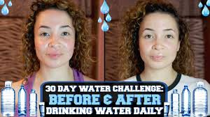 Water Challenge Dangerous 30 Day Water Challenge Before After Water Daily