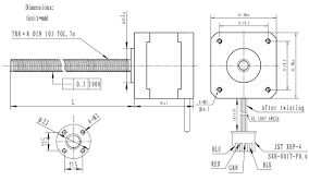 pololu stepper motor with 18cm lead bipolar 200 steps