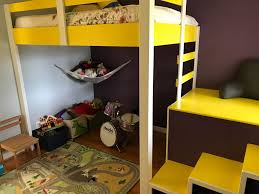 Loft Bed Hanging From Ceiling by Full Sized Loft Bed Diy The Letter K