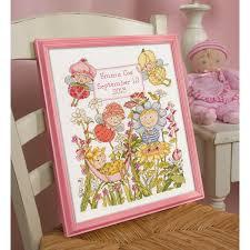 shop plaid bucilla baby counted cross stitch crib ensembles