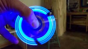 fidget spinner light up blue catylator light up led fidget spinner youtube