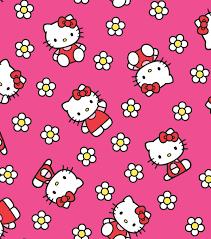 hello kitty flannel fabric 43