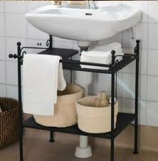 Bathroom Sink Shelves Floating Creative Sink Storage Ideas Hative