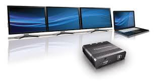 Computer Desk For Multiple Monitors Matrox Triplehead2go Displayport Multi Monitors For Laptops