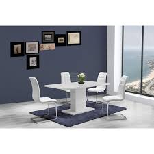 High Gloss Dining Table And Chairs Ice White High Gloss Dining Table 120cm Or 160cm Size Option