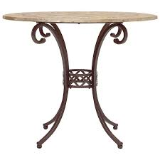 brookside round stone high dining table