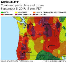 How Many Wildfires In Washington State by Air In Spokane Hazardous As Wildfire Smoke Fills City The