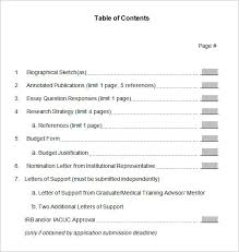 Professional Table of Contents Template Download Template net