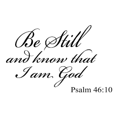 be still and that i am god psalm 46 10 vinyl wall