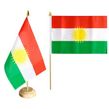 Kurdish Flag Kurdistan Table Flag 5 9 X 8 65 Inch