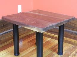 Black Walnut Table Top by Rustic Glue Up Finished Black Walnut End Table Side Table 53016