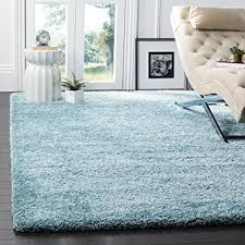 Blue Area Rugs 8 X 10 Amazon Com Safavieh Milan Shag Collection Sg180 6060 Aqua Blue