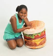 wow works llc hamburger inflatable bean bag chair u0026 reviews wayfair