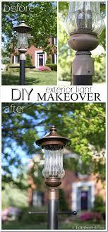 Landscaping Light Fixtures Outdoor Light Fixture Makeover Using Metallic Paint Inmyownstyle