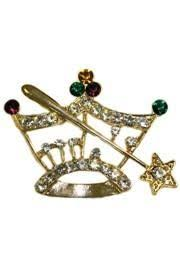 mardi gras pins mardi gras crown and scepter pin brooch with rhinestones