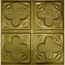 Tin Ceiling Xpress by 134 Tin Metal Ceiling Tile Four Clover Leaf