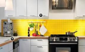 yellow kitchen theme ideas yellow kitchen ideas with white cabinet and backsplash 1649