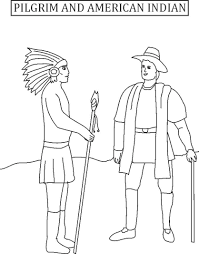 printable coloring pages for thanksgiving download coloring pages pilgrims and indians coloring pages