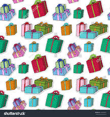 wrapped christmas boxes christmas gift boxes pattern celebration seamless stock vector