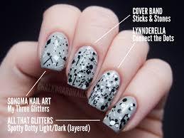 the ultimate black and white glitter comparison post chalkboard