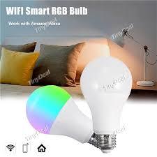 light bulbs that work with amazon echo 17 21 e27 smart wifi light bulb dimmable 10w rgb led bulb work w