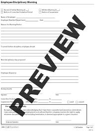 employee disciplinary warning hrcaliforniaemployee disciplinary