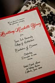 Invitation Graduation Cards Texas Tech Calligrapher Graduation Announcements Left Handed