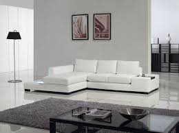 living room modern sectional sofa in white with glass top coffee