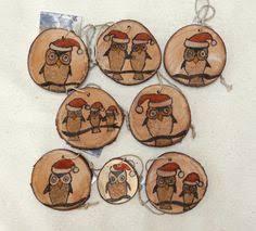 deer ornaments 9 deer tree slice ornaments reindeer wood