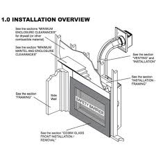Direct Vent Fireplace Installation by Napoleon Crystallo Top Rear Direct Vent Gas Fireplace Bgd36cfgn