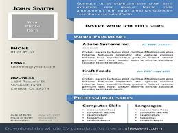 Resume Template With Picture Insert Powerpoint Resume Template Gavea Info