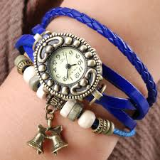 leather bracelet girl images Handmade vintage quartz weave around leather bracelet lady woman jpg