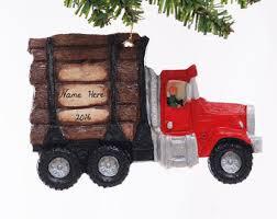 personalized felt truck ornament