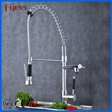 Spring Pull Down Kitchen Faucet Spring Loaded Kitchen Sink Mixer Tap Faucets 3 Way Long Neck