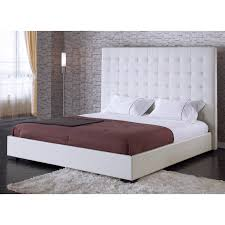 Quilted Headboard Bed Amazing Best 25 White Leather Bed Ideas On Pinterest Inside