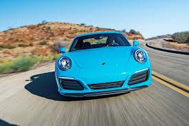 porsche blue 2017 chevrolet corvette grand sport vs 2017 porsche 911 carrera s